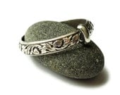 THE Original - Thistle Band - Solid Sterling - Sporran Key style - Filigree Leaves & Bud - Celtic - All Sizes - Blood of my Blood