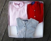 CASHMERE Sweater Lot of THREE Sweaters for Wearing or Repurposing DIY / Pink Cashmere S / Red Gray Cashmere S M