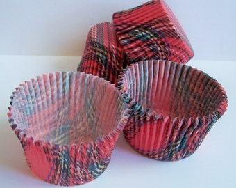 40 Large Size Mary Cupcake Liners by Vestli House Plaid