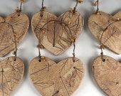 Handmade Ceramic Ornament - Holiday Decoration - Botanical Leaves in Gift Box - Ornament Exchange - Ready to Ship