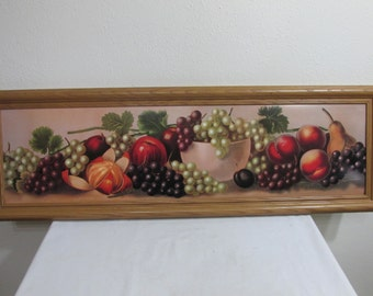 Picture Yard Long Framed Fruit Picture