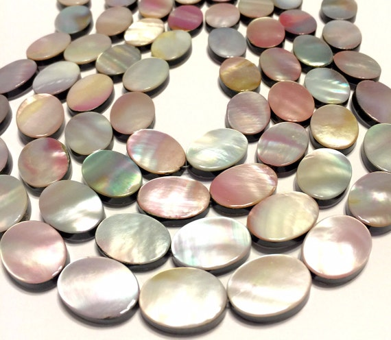 Pink Mother Of Pearl Shell Large Double Sided Beads Whole