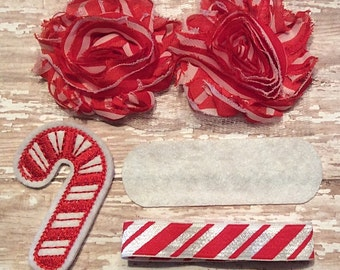 DIY Christmas Headband Kit- Candycane Headband Kit- Makes 1 headband, Do it Yourself- Feltie Headband- Baby Headband Kit- DIY Supplies