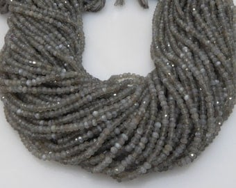 natural gray moonstone 3-4mm