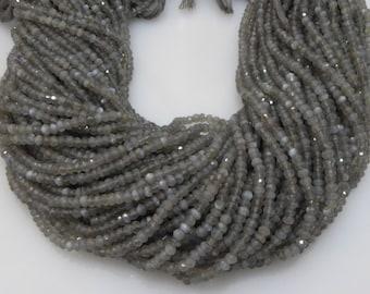 natural gray moonstone 3-4mm