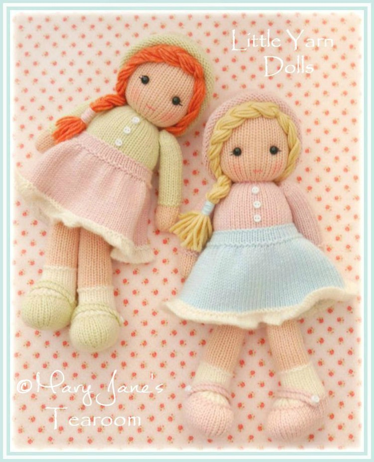 Little Yarn Dolls / PDF Doll Knitting Pattern/ by ...