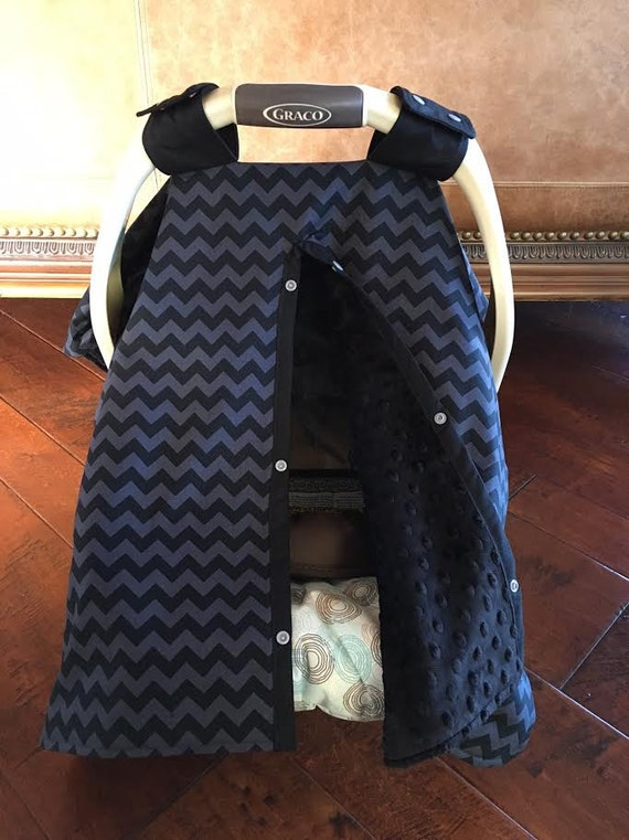 super cute baby car seat covers small chevron in black. Black Bedroom Furniture Sets. Home Design Ideas