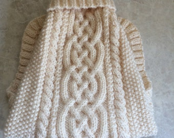 Aran Knit Dog Sweater