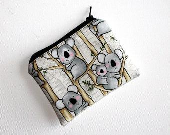 Mini Coin Purse in Cute Koala Fabric
