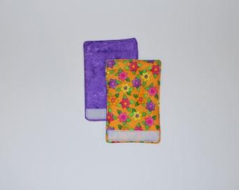 Luggage Handle Wraps set of two reversible Pop Art Garden traveler teacher gift Quiltsy Handmade