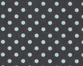 CLEARANCE SALE Gray Dumb Dot Dot by Michael Miller Fabrics | Light Blue Aqua Gray Grey Dots | By The Yard