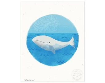 Whale of a Tale Illustrated Art Print