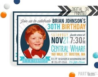 Adult Birthday Invitation - Digital or Printed - 40th Birthday Invitation   30th Birthday   45th Birthday   50th Birthday   Milestone Invite