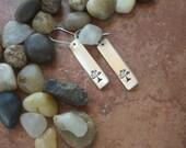 Sterling Silver Tree Of Life Earrings - Hand Stamped Tree Earrings