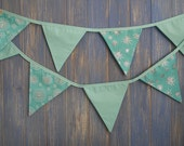 Frozen Inspired Snowflake Bunting. This gorgeous strand is 3m long in a variety of  beautiful Turquoise fabrics.