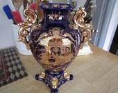 Satsuma Japanese Roman Scene Vase Urn