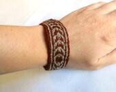 Viking Tablet Weaving Bracelet - Brown