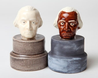 George Washington Minority Ethnic Salt and Pepper Shakers