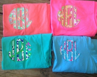 Monogrammed Lilly Tee