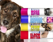 Dog Nose to Toes Handcrafted, All Natural NOSE BUTTER®, Paw Butter, Elbow Butter, Boo Boo Butter 4-.15 oz Tubes for Your Dog's Discomforts