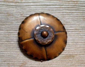 Pedro Pujol Copper Pin, Modernist Copper Brooch, PEDRO PUJOL Pin, Vintage Pujol Pin Brooch, Mid Century Copper, Vintage Copper Pin