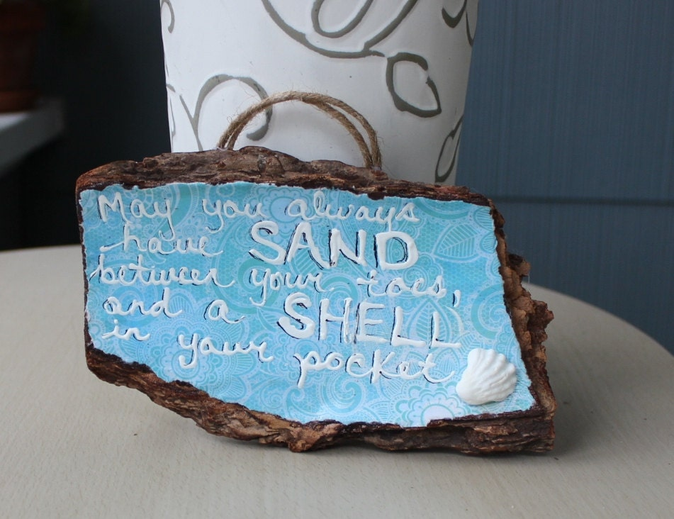 Shore decor driftwood sign coastal home decoration beach for Shore home decor