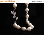 Bridesmaid Jewelry Set of 6 Rhinestone Vine and Pearl Bridal Necklaces Alexis
