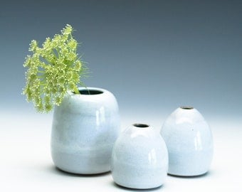 Cloudy White Medium Vase / Ceramic Vessel