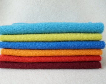 Hand Dyed Felted Wool Fabric in a Beautiful Collection of Colors a Perfect Rug Hooking, Wool Applique, Quilting by Quilting Acres