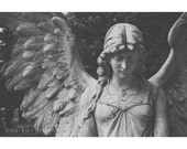 Angel Art, Black and White Photography, Graveyard, Cemetery, Graveyard Photography, Angel, Angel Wings, Feathers, Halloween Photography