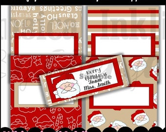 Krafty Christmas Candy Bar Wrappers, set of 4  - Digital Printable - Immediate Download