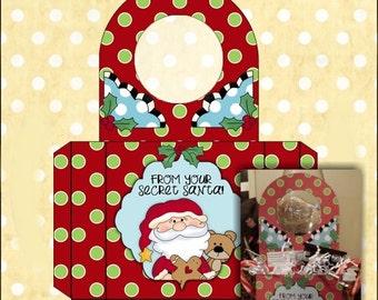 Secret Santa Doorknob Hanger - Digital Printable - Immediate Download