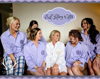 Set of 13, Bridesmaid Shirts, Bridesmaid Gift, Bridesmaid Button Down Shirts, Wedding, Bridesmaid Shirt, Monogram Shirt, Bridal Party Shirts