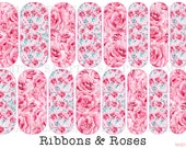 DISCOUNTS AVAILABLE! Ribbons & Roses - Custom Jamberry Nail Wraps