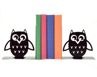 Sugar Owl Metal Art Bookends - Free USA Shipping