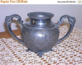 ON SALE Beautifully Ornate Silver Footed Sugar Bowl
