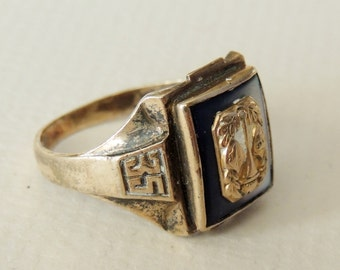 1935 10K and Sterling CLASS RING