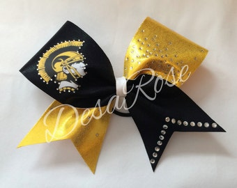 Black and Gold Trojan Bow