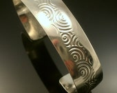 Sterling Silver Center Swirl Cuff- Free US Standard Shipping