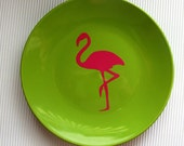 Pink and Green Appetier Plates - Set of 4