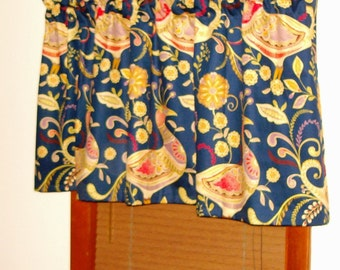 Tailored Valances in a variety of fabric choices