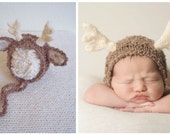 Deer Newborn Set Boy Hat Shorts Reindeer Baby Girl Animal Diaper Cover Antlers Fall Photo Prop Rudolph Winter coming home Fawn outfit bonnet