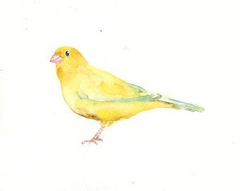 CANARY Original watercolor painting 10x8inch