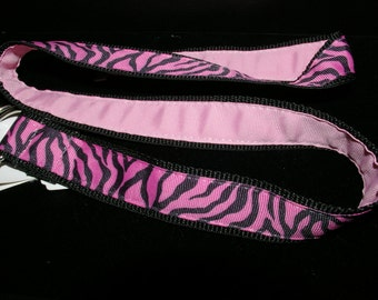 Ready to Ship...Pink and Black Zebra Adjustable Belt