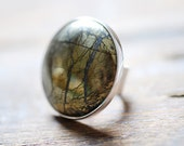 Golden Moon Medallion Ring