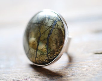 Golden Moon Medallion Ring