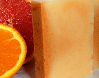 Citrus Soap. Bergamot & Grapefruit Soap, Lemon Verbena Soap, Mandarin Orange Soap, Lime Soap