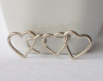 Vintage Heart Brooch, Valentine Brooch