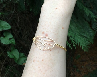 Golden Butterfly Wing Bracelet