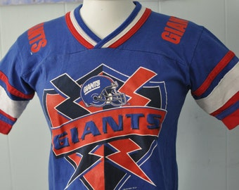 Vintage Football Jersey New York Giants Royal Blue Red ny nyc Youth Ladies SMALL XS